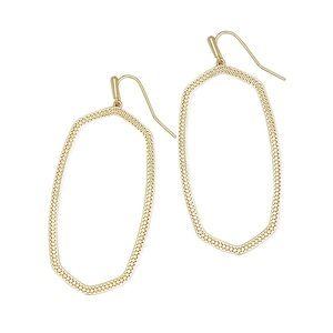 KENDRA SCOTT • Gold Danielle Open Frame Earrings